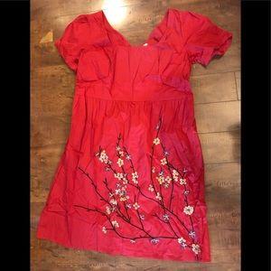 eShakti Red Dress